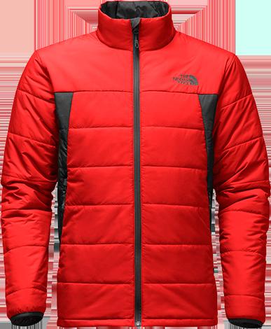 M bombay jacket fiery red asphalt grey