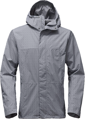 M folding travel jacket grey print